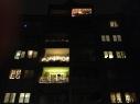 weihnachtliche Balkone