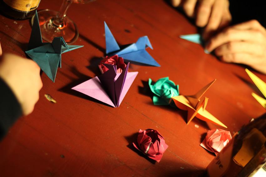 """""""Andere stricken – ich falte Origami"""""""