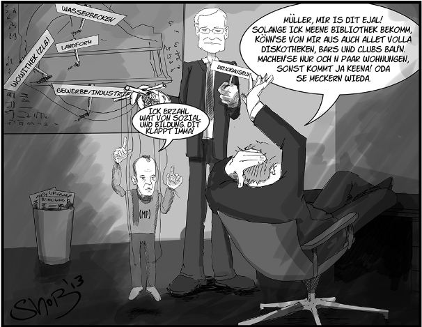 Karikatur: Sven-Norman Bommes