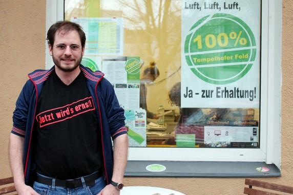 Felix Herzog, 28, Vorstandsmitglied der Initiative