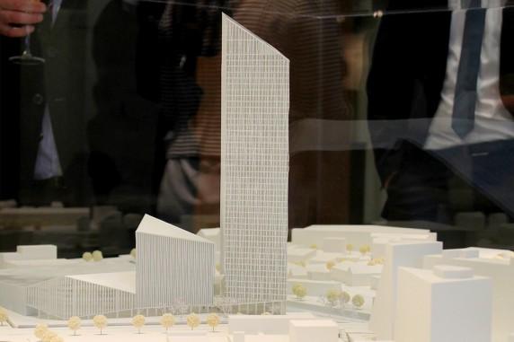 Das Architekturbüro Barkow Leibinger entwickelte den Siegerentwurf des Estrel-Turms.