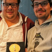 Schauspieler Till Butterbach (links) mit Nachwuchsregisseur und Oscar-Gewinner Peter Baumann