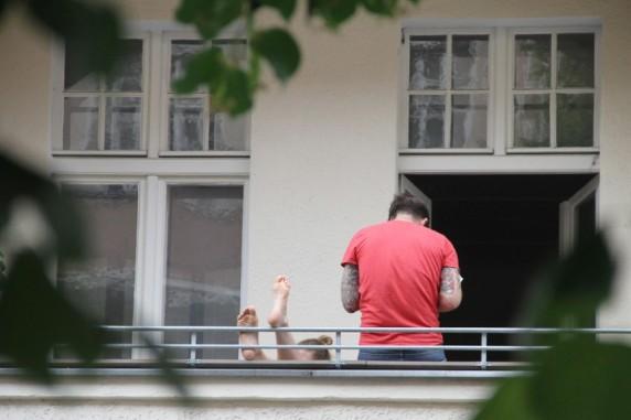Chillen auf'm Balkon