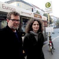 Michaela Müller und Moritz Reichelt haben dem Bus M41 einen Song gewidmet. Foto: Regina Lechner