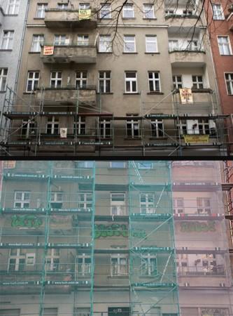 Die Friedelstraße 54 von außen, Foto: friedelstrasse54.blogsport.eu