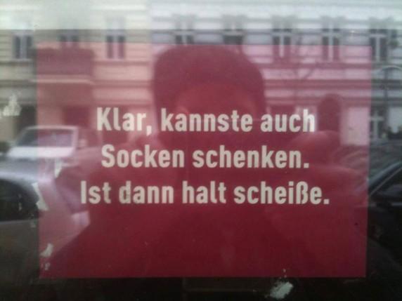 Entdeckt von Alex in der Mainzer Straße.