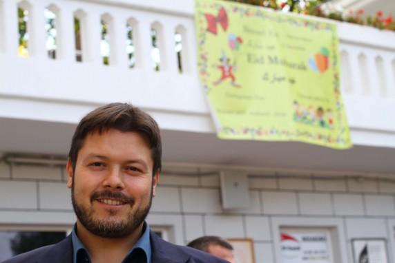 Ender Cetin, der Vorsitzende des Moscheevereins (Foto: Jan-Jonathan Bock)