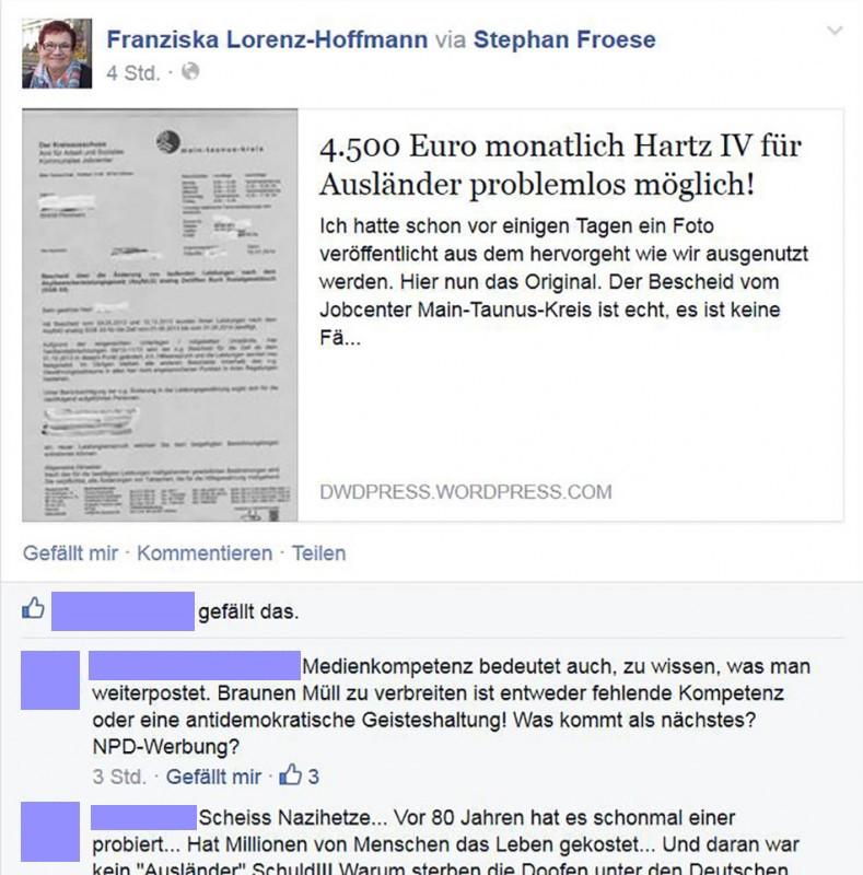 Bild: Screenshot Facebook/Franziska Lorenz-Hoffmann