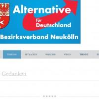 AfD Neukölln: Gedanken im Überfluss, Screenshot: afd-neukoelln.de/ueber-uns/unsere-gedanken/