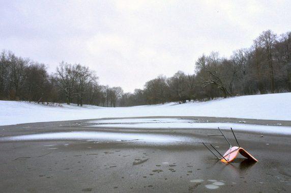 Rodelbahn mit See