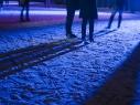 Nachts auf dem Schifffahrstkanal