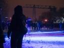 Nachtsport unterm Kran