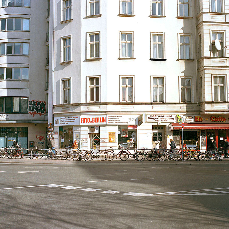 The series of about forty photographs documents the Berlin road Sonnenallee. It is an exploration of the structure of this street as well as of its population.