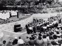 Freilichtbühne bei ihrer Eröffnung 1954