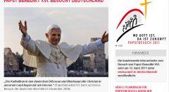 Screenshot des Internetauftritts der Deutschen Bischofkonferenz: www.papst-in-deutschland.de/