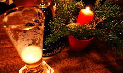 Bier und Adventskranz