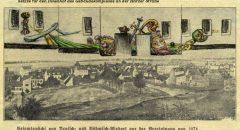 oben: Skizze von Wolfgang Stadter, unten: aus dem Archiv des Museum Neukölln