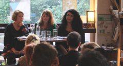 Diskussionsteilnehmerinnen von links nach rechts: Hannah Wettig, Nicole Tomasek, Hoda Salah
