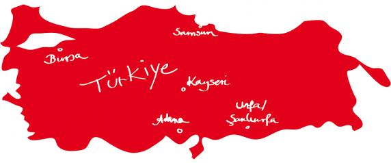 Tuerkei-Karte