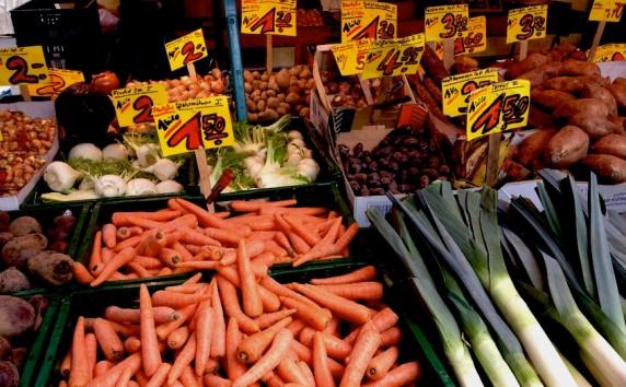 Gemüse am Marktstand