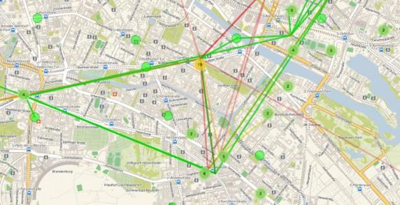 Bild: Open Wifi Map für Neukölln (Stand 29.04.2014)