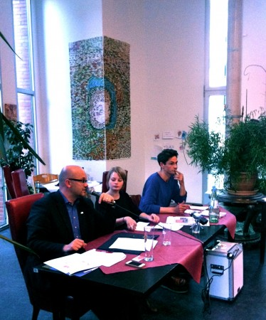 Eher maue Diskussionsrunde: Felgentreu, Moderatorin, Lehnert