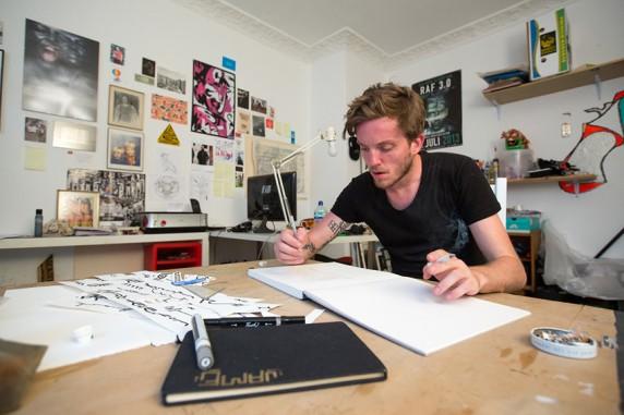Raphael Itten in seinem Atelier