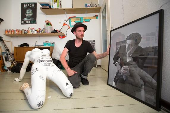 Raphael Itten in seinem Atelier_2