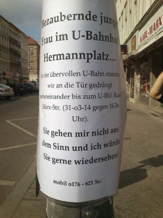Entdeckt von ULF am Ubahnhof Karl-Marx-Straße