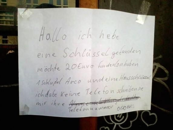 Entdeckt von Jürgen in der Karl-Marx-Straße.
