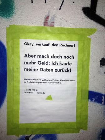 Entdeckt in der Okerstraße.