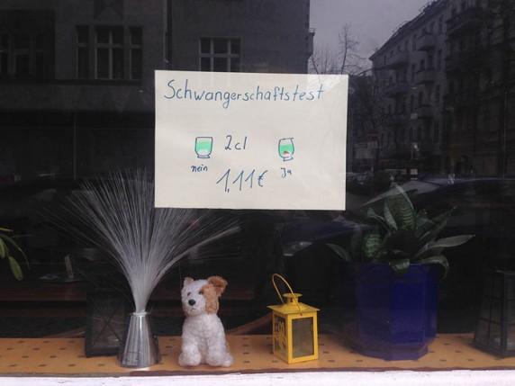 Entdeckt in der Pflügerstraße.