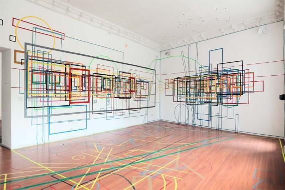 """Ausstellung """"Genius Loci - Rekonstruktion eines Raumes"""" im kunstraum t27 (Foto: René Moritz)"""