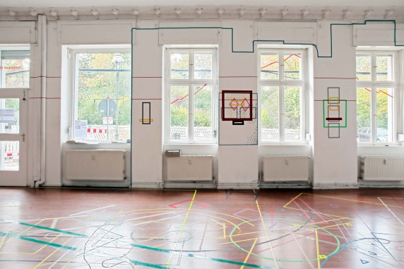 Fensterfront im kunstraum t27 (Foto: René Moritz)