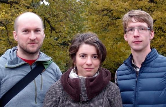 Jan Michael Ihl (v.l.), Saskia Ellenbeck und Peter Feldkamp vom Netzwerk Fahrradfreundliches Neukölln (Foto: privat)