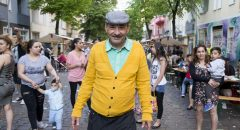 Rasim Biberoviz from Serbia poses for a picture during the 5th 'Herdelezi Roma Kulturfestival' in the Neukoelln district in Berlin, Germany on May 7, 2016.