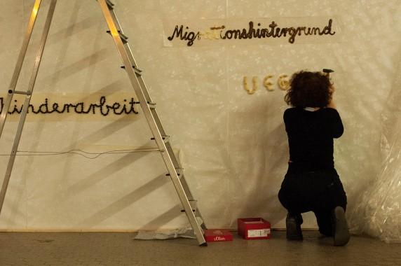 Wörter, die die Künstlerinnen vom Frauenmuseum Berlin satt haben (Foto: Michalina Kowol)