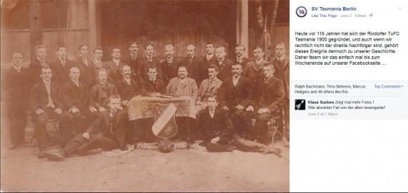 Screenshot: SV Tasmania Berlin/Facebook