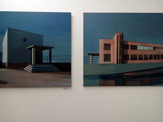 Ausstellungsansicht von Werken der Künstlerin Maria Kiesner (Foto: Jana Völker)