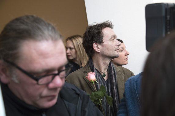 Der Maler Carsten Kaufhold, Gewinner des Sonderpreises der Wohnungsbaugesellschaft STADT UND LAND