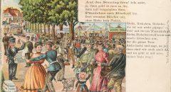 Schon als Neukölln noch Rixdorf hieß, wurde hier kräftig gefeiert - Postkarte: Museum Neukölln